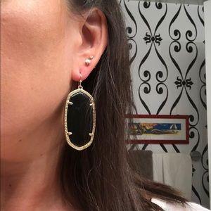 Kendra Scott signature Elle drop earrings - Black
